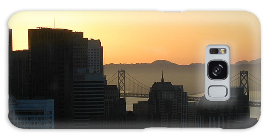 Buildings Galaxy S8 Case featuring the photograph Bay Bridge by Peggy Starks