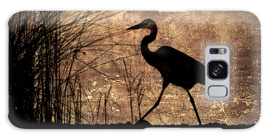 Heron Galaxy S8 Case featuring the photograph Bayou Walk by Joan McCool