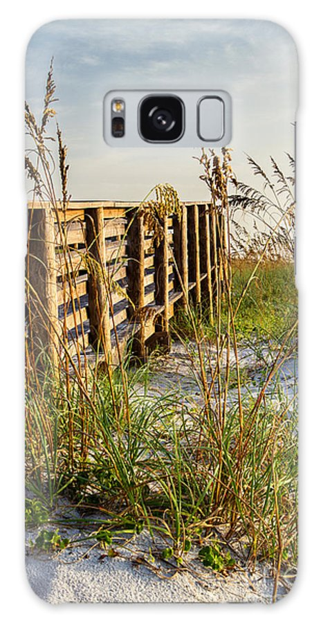 Amelia Island Galaxy S8 Case featuring the photograph Beach Boardwalk by Dawna Moore Photography