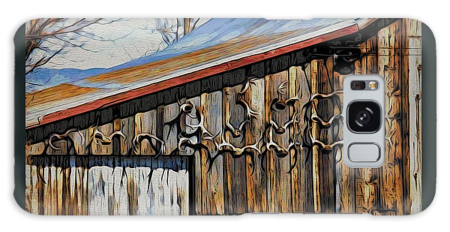 Deer Racks Galaxy S8 Case featuring the photograph Beautiful Old Barn With Horns by Phyllis Kaltenbach