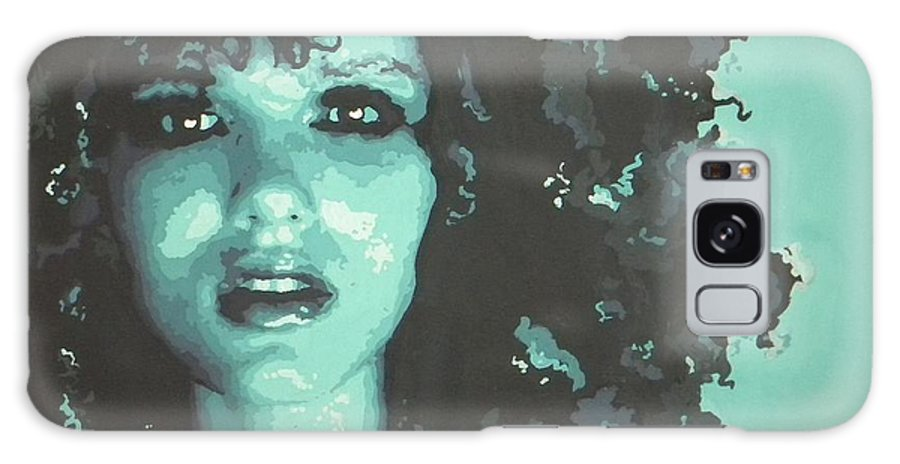 Blue Galaxy S8 Case featuring the painting Beauty Blue by Leigha Sherman