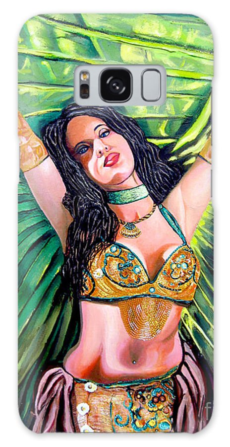 Girl Galaxy Case featuring the painting Belly Dancer by Jose Manuel Abraham