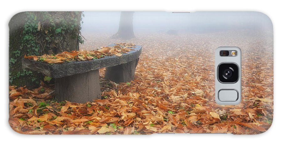 Bench Galaxy S8 Case featuring the photograph Bench In The Fog by Mats Silvan