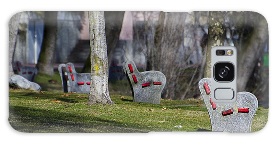 Benches Galaxy S8 Case featuring the photograph Benches by Mats Silvan