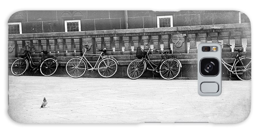 Bicycle Galaxy S8 Case featuring the photograph Bicycles In Black And White by Sophie Vigneault