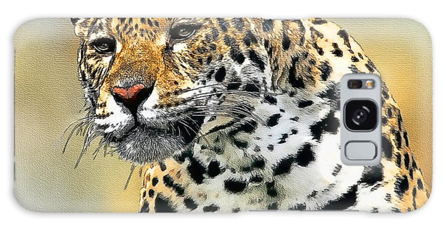 Big Cat Galaxy S8 Case featuring the painting Big Cat by Tom Schmidt