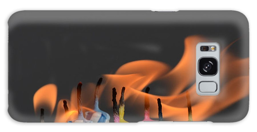 Candle Galaxy S8 Case featuring the photograph Birthday Candles by Photo Researchers, Inc.