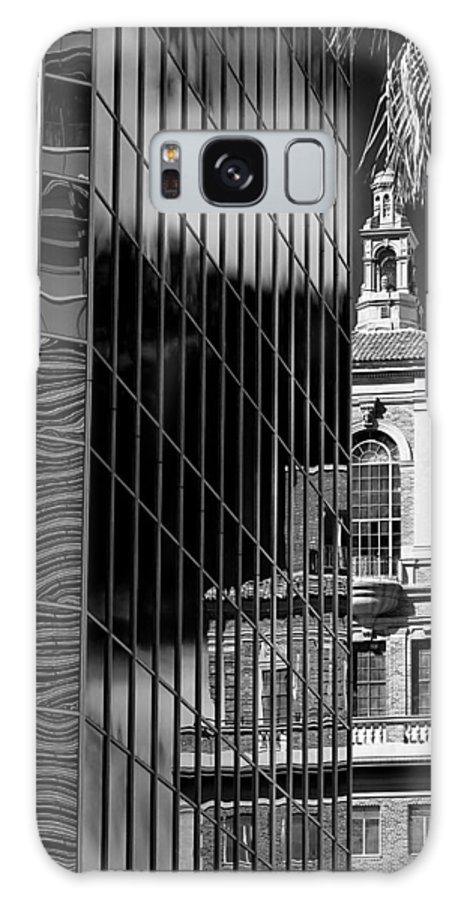 Building Galaxy S8 Case featuring the photograph Blending Architecture Black And White by Phyllis Denton
