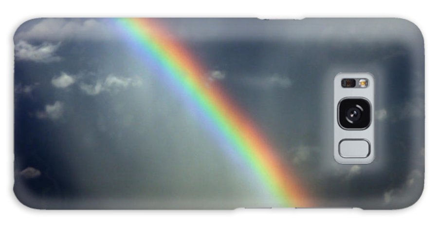 Aviation Photos Galaxy S8 Case featuring the photograph Blue A320 Over The Rainbow by Strato ThreeSIXTYFive
