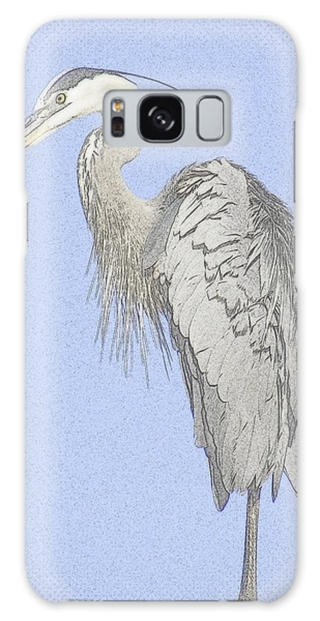 Bird Galaxy S8 Case featuring the photograph Blue Heron by T Guy Spencer