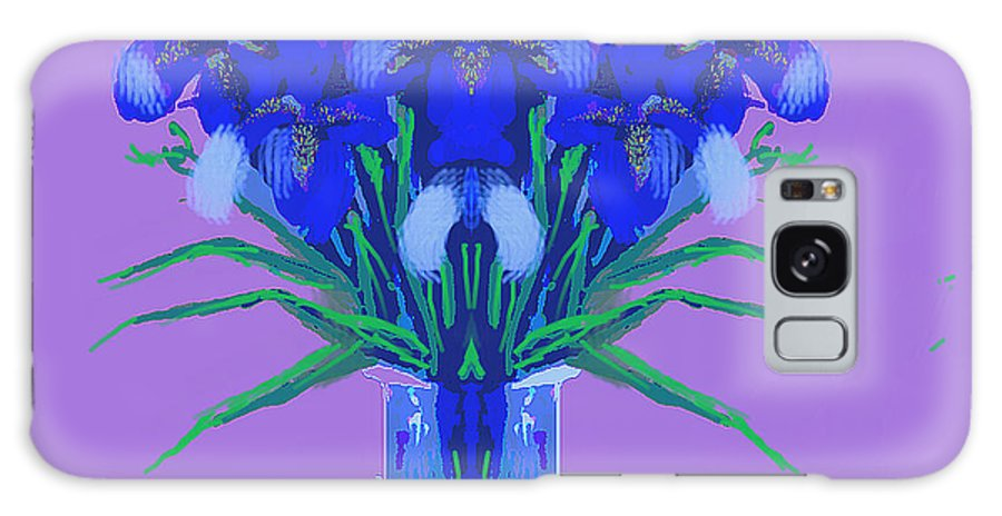 Colourful Simplicity Galaxy S8 Case featuring the painting Blue Iris by Jean Marie Bowcott