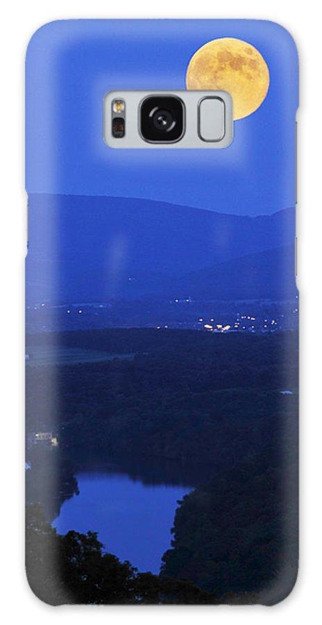 Moon Galaxy S8 Case featuring the photograph Blue Moon by Lara Ellis