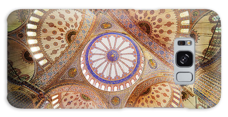 Arch Galaxy S8 Case featuring the photograph Blue Mosque Domed Ceiling by Artur Bogacki