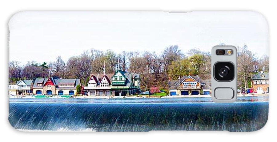 Boathouse Row From Fairmount Dam Galaxy S8 Case featuring the photograph Boathouse Row From Fairmount Dam by Bill Cannon