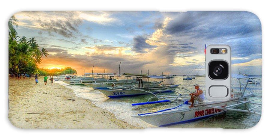 Yhun Suarez Galaxy S8 Case featuring the photograph Boats Of Panglao Island by Yhun Suarez