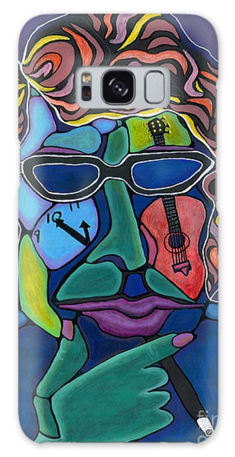 Musician Galaxy S8 Case featuring the painting Bob Dylan by David Craig