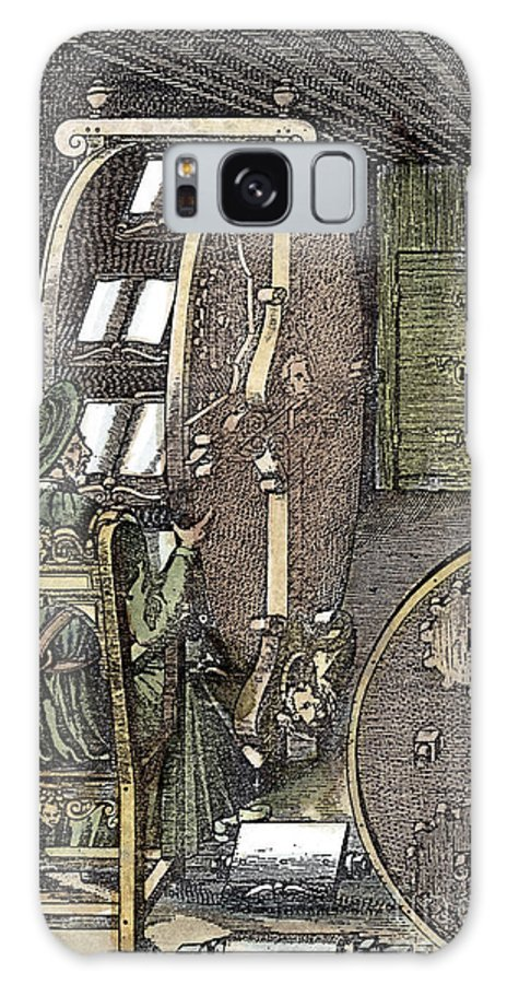 1588 Galaxy S8 Case featuring the photograph Bookwheel, 1588 by Granger