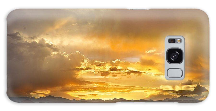 flagstaff Fire Galaxy S8 Case featuring the photograph Boulder Colorado Flagstaff Fire Sunset View by James BO Insogna