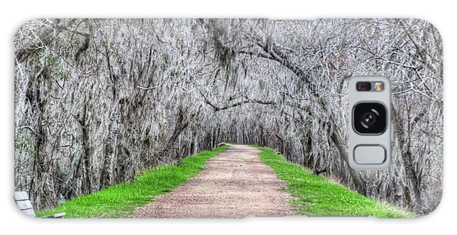 Road; Roads; Arc; Path; Rail; Trails; Moss Galaxy S8 Case featuring the photograph Brazos Bend Pass by Diego Re
