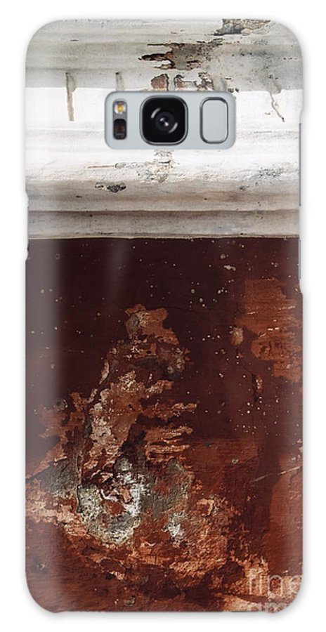 Weathered Wall Galaxy S8 Case featuring the photograph Brick Red Wall Detail by Agnieszka Kubica