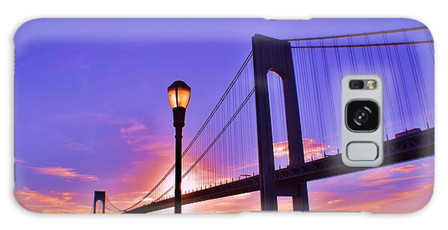 Sky Galaxy S8 Case featuring the photograph Bridge At Sunset 2 by Artie Wallace