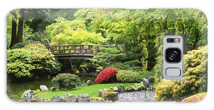 Japanese Garden Galaxy S8 Case featuring the photograph Bridge To Tranquility by Sandra Bronstein