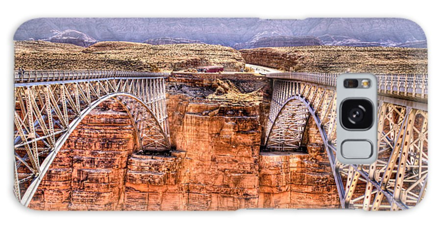 Lees Ferry Arizona Galaxy S8 Case featuring the photograph Bridges At Lees Ferry by Jon Berghoff