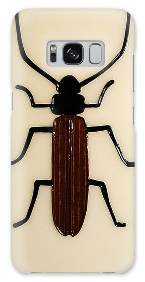 Petervirgancz Galaxy S8 Case featuring the mixed media Brown Spruce Longhorn Beetle by Peter Virgancz