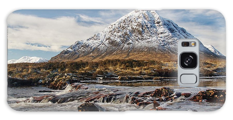 Scotland Galaxy S8 Case featuring the digital art Buchaille Etive Mhor - Glencoe by Pat Speirs