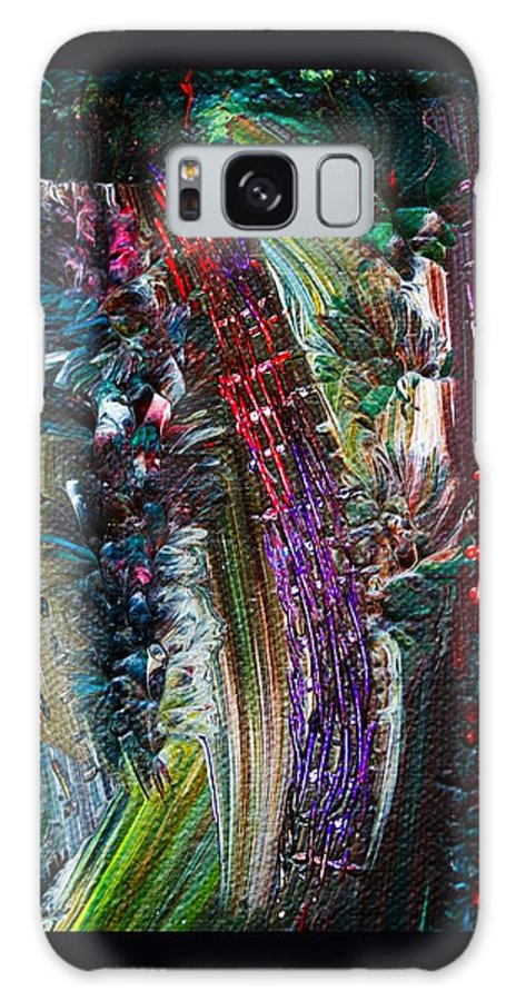 Abstract Galaxy S8 Case featuring the painting Bursting by Marie Jamieson