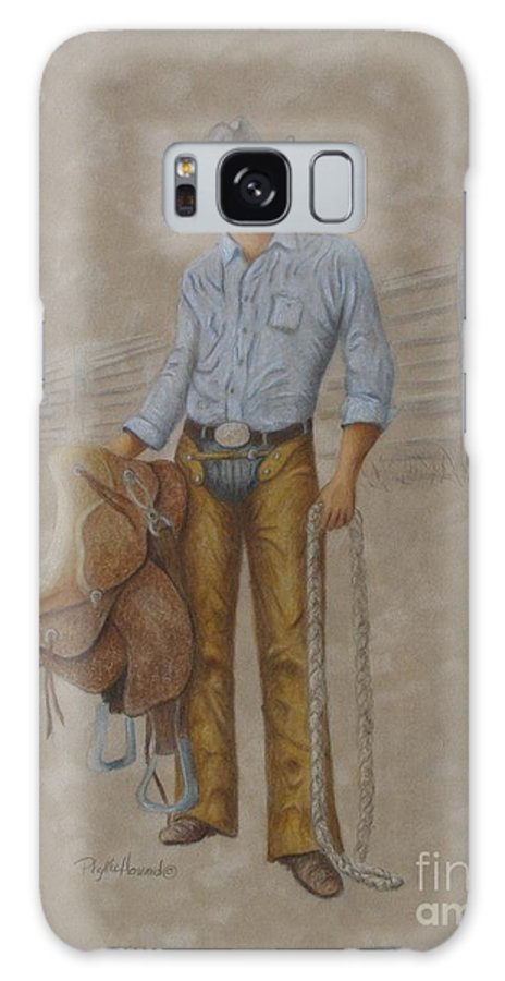 Cowboys Galaxy S8 Case featuring the painting Busted Bronc Rider by Phyllis Howard