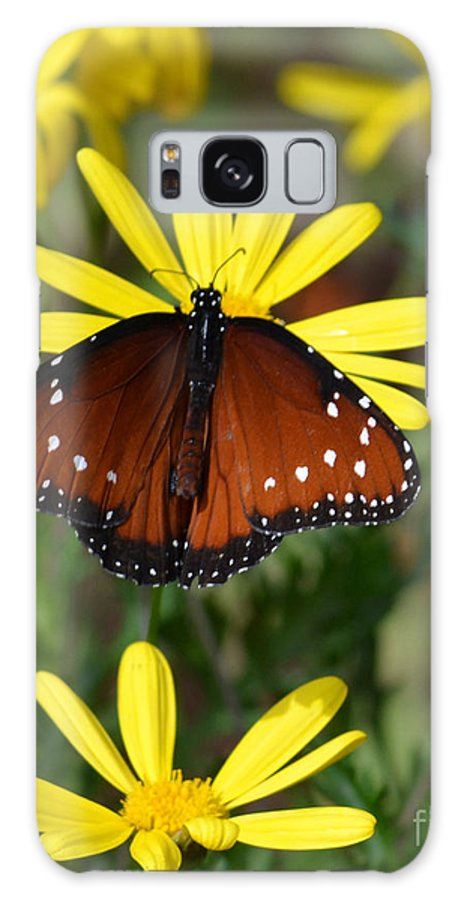 Butterfly Galaxy S8 Case featuring the photograph Butterfly And Yellow Flowers by Rebecca Margraf