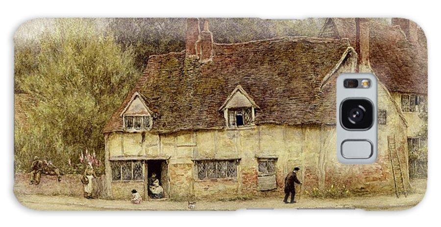 By The Old Cottage Galaxy S8 Case featuring the painting By The Old Cottage by Helen Allingham