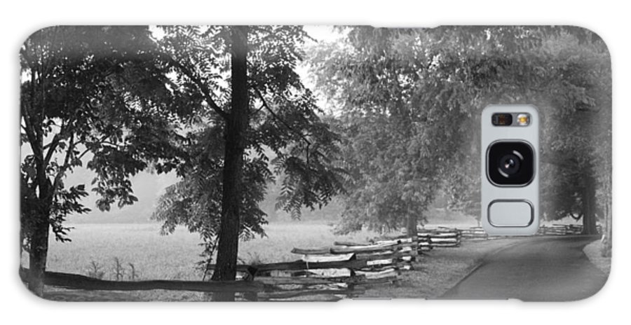 Cades Cover Galaxy S8 Case featuring the photograph Cades Cove Tennessee In Black And White by Kathy Clark