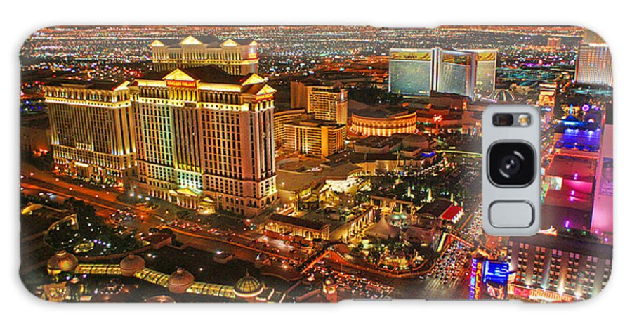 Las Vegas Galaxy S8 Case featuring the photograph Caesars Palace On The Strip by Randy Harris