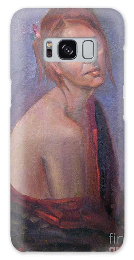Figure Art Galaxy S8 Case featuring the painting Calm Contentment by Lilibeth Andre