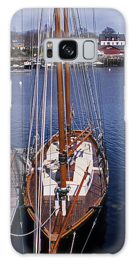 Maine Galaxy S8 Case featuring the photograph Camden Tall Ship by Skip Willits