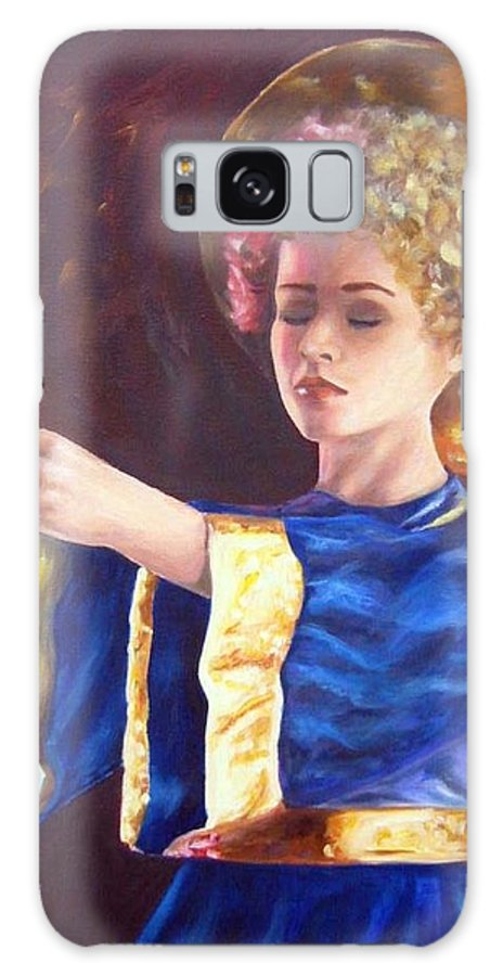 Portrait Galaxy Case featuring the painting Candlemass by Anne Kushnick