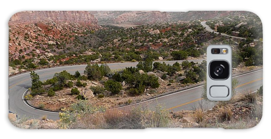 Road Galaxy S8 Case featuring the photograph Canyon Switchback by Ellen Leigh