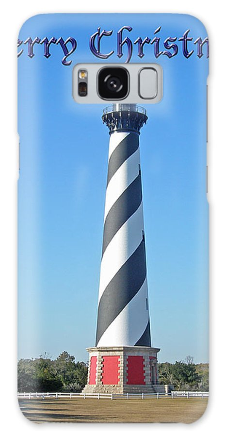 Christmas Galaxy S8 Case featuring the photograph Cape Hatteras Lighthouse - Outer Banks - Christmas Card by Mother Nature