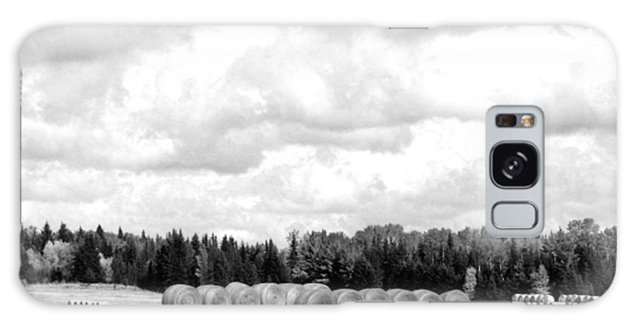 Cariboo Ranching Country Galaxy S8 Case featuring the photograph Cariboo Country Hay Bales by Will Borden