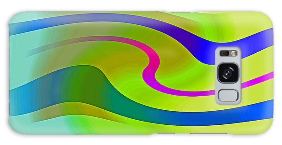 Abstract Expressionism Galaxy S8 Case featuring the digital art Carioca by John Neumann