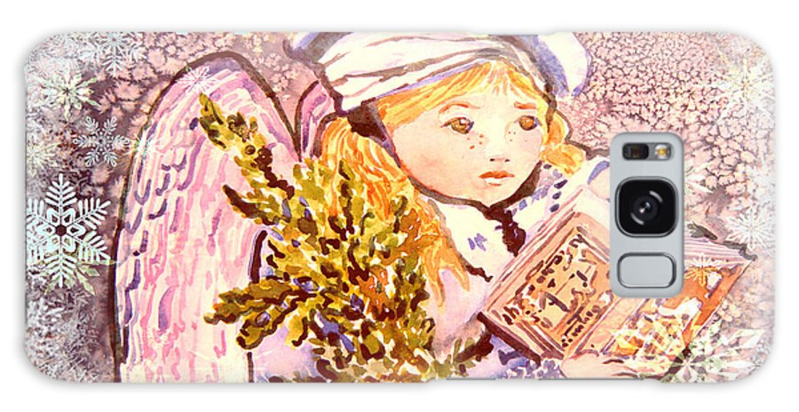 Angel Galaxy S8 Case featuring the painting Caroling Angel by Mindy Newman