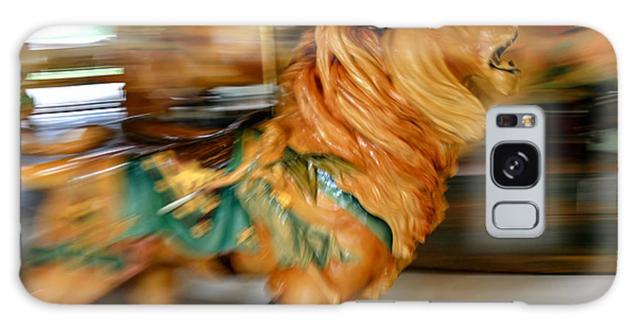 Carousel Galaxy S8 Case featuring the photograph Carousel Lion by Ken Marsh