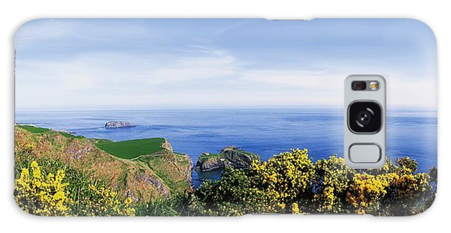 Beauty Galaxy S8 Case featuring the photograph Carrick-a-rede Rope Bridge, Co Antrim by The Irish Image Collection
