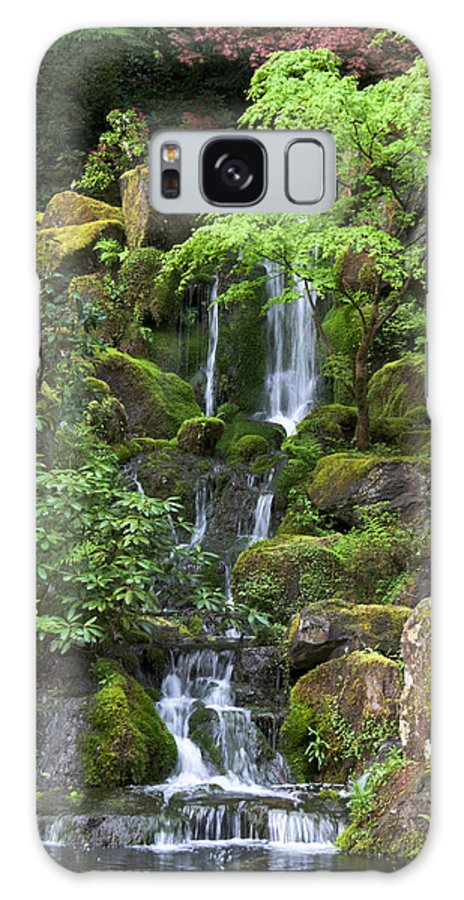 Green Galaxy S8 Case featuring the photograph Cascading Waters by Jean Hildebrant