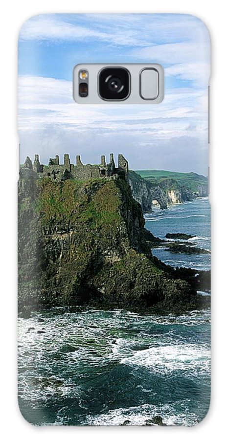 Building Exterior Galaxy S8 Case featuring the photograph Castle At The Seaside, Dunluce Castle by The Irish Image Collection