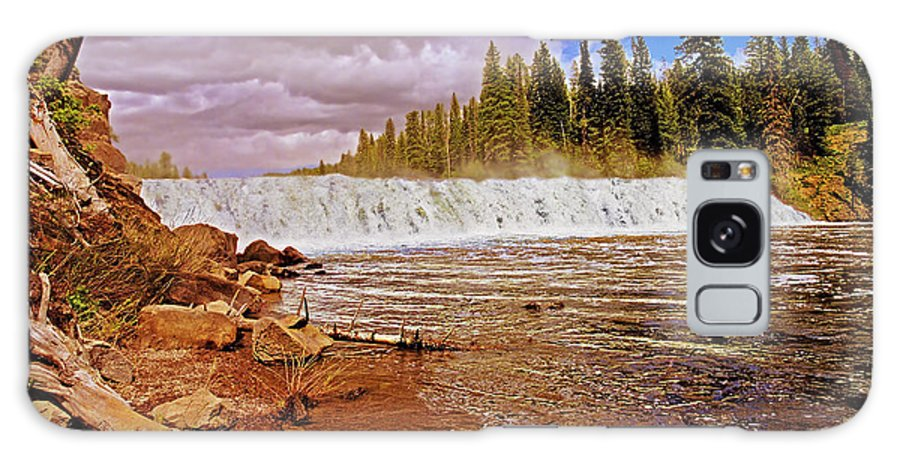 Wyoming Galaxy S8 Case featuring the photograph Cave Falls by Rich Walter
