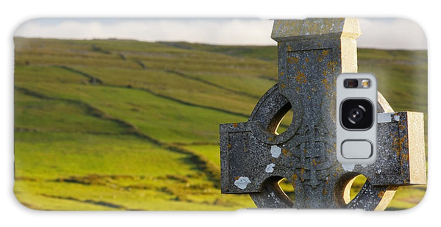 Irish Galaxy S8 Case featuring the photograph Celtic Cross In A Cemetery by Trish Punch