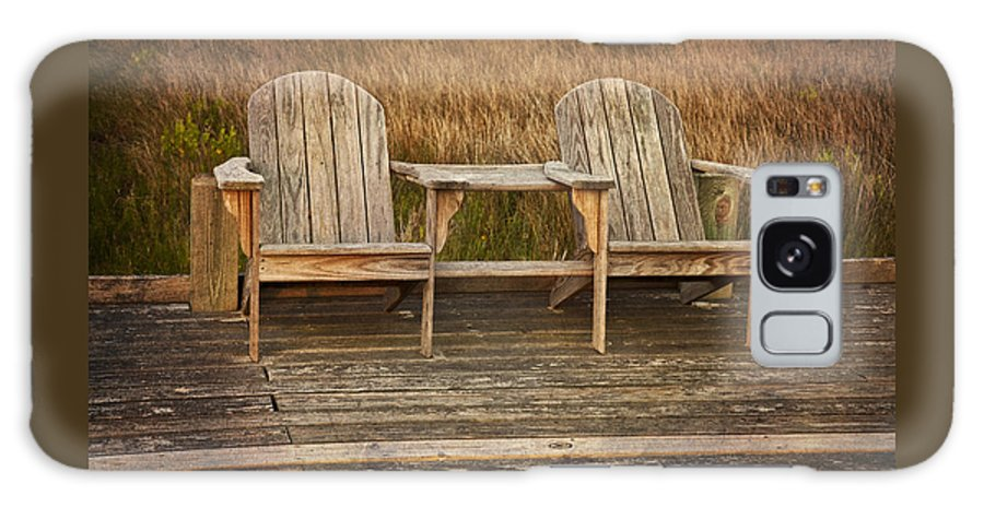 Chairs Galaxy S8 Case featuring the photograph Wooden Chairs by Amy Jackson